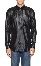 Silk-Blend Lame Shirt by Givenchy at Barneys
