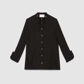 Silk Button Down Shirt at Gucci