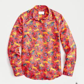 Silk Button-Up Shirt at J.Crew