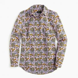 Silk Button up Shirt in Tiger Floral by J. Crew at J Crew