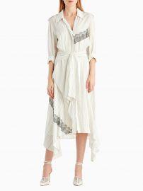 Silk Collared Long Sleeve Dress by Jason Wu at Jason Wu