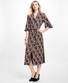 Silk Crepe Twirl Dress at Brooks Brothers