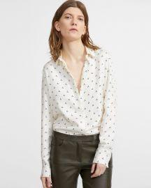 Silk Dot Straight Shirt at Theory