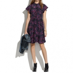 Silk Dress in Night Orchid at Madewell