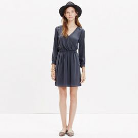 Silk Faux Wrap Dress at Madewell