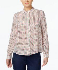 Silk Fish-Print Shirt by Max Mara at Macys