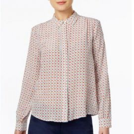 Silk Fish-Print Shirt by Weekend Max Mara at Macys