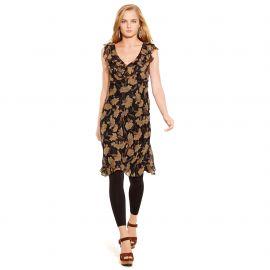 Silk Floral Ruffled Dress at Ralph Lauren
