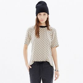 Silk Front Row Tee in Dot at Madewell