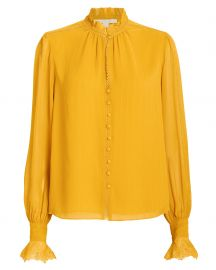 Silk Georgette Ruffled Blouse at Intermix