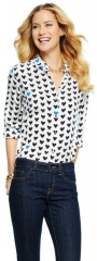 Silk Heart Print Shirt at C Wonder