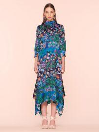 Silk High Neck Midi Dress by Peter Pilotto at Peter Pilotto