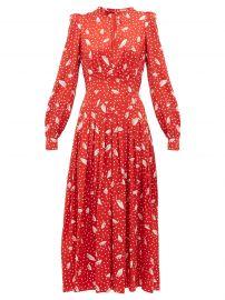 Silk-Jacquard Midi Dress by Alessandra Rich at Matches