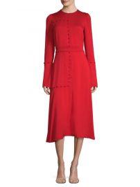 Silk Long-Sleeve A-Line Midi Dress  Prabal Gurung at Saks Fifth Avenue