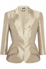 Silk Mikado Jacket by Alexander McQueen at Net A Porter