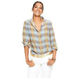 Silk Plaid Shirt at C Wonder