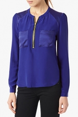 Silk Popover Blouse at 7 For All Mankind