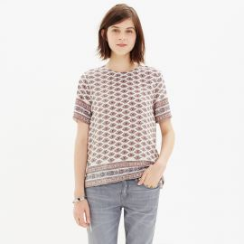 Silk Refined Tee in Diamond Floral at Madewell