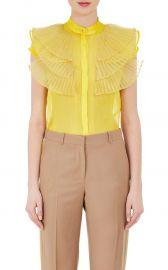 Silk Ruffled Organza Blouse by Givenchy at Barneys Warehouse