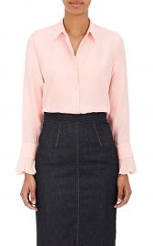 Silk Satin-Back Crepe Blouse by Barneys New York at Barneys