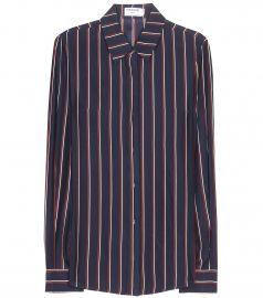 Silk Striped Shirt at My Theresa
