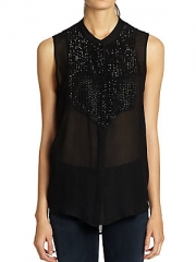 Silk Tuxedo Blouse by L Agence at Saks Off 5th