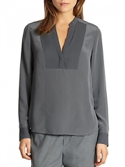 Silk Tuxedo Blouse by Vince at Saks Off 5th