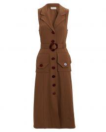 Silk Twill Button-Up Dress at Intermix
