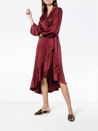 Silk Wrap Dress With Ruffle Detail by Zimmermann at Farfetch