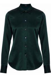 Silk-blend satin shirt at The Outnet