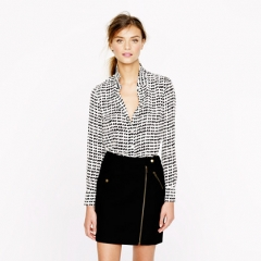Silk boy shirt in tossed hearts at J. Crew