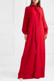 Silk crepe de chine jumpsuit at Net A Porter