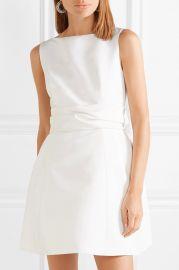 Silk-faille mini dress at Net A Porter