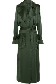 Silk-satin Trench Coat by Michael Lo Sordo at Net A Porter
