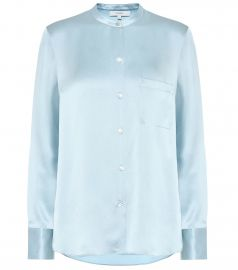 Silk-satin shirt at Mytheresa