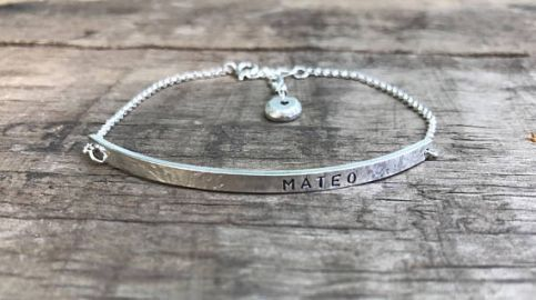 Silver Mom Bracelet DakotaDesignsJewelry at Etsy