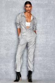 Silver Sparkle Boiler Suit by Mistress Rocks at Mistress Rocks