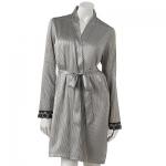 Silver and black lace robe at Kohls