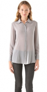 Silver blouse like Robins at Shopbop