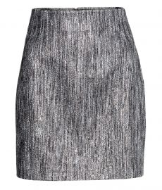 Silver skirt at H&M
