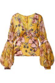 Silvia Tcherassi - Corinilla floral-print silk-blend satin and organza blouse at Net A Porter