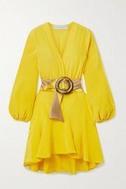 Silvia Tcherassi - Filis belted silk crepe de chine mini dress at Net A Porter