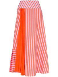 Silvia Tcherassi Brezo Pleated Striped Skirt - Farfetch at Farfetch