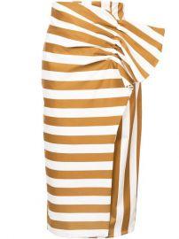 Silvia Tcherassi Stripe and Polka Dot Skirt at Farfetch