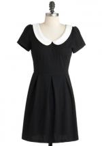 Similar black dress with white peter pan collar at Modcloth