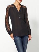 Similar black lace shirt at Piperlime