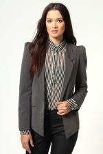 Similar blazer in darker grey at Boohoo
