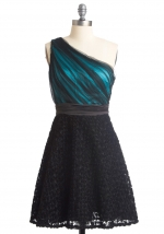 Similar blue and black dress from Modcloth at Modcloth