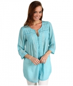 Similar blue blouse by Johnny Was at 6pm