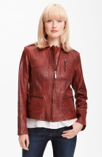 Similar colored leather jacket at Nordstrom at Nordstrom